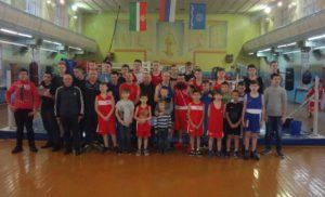 Товарищеская встреча спортсменов по боксу