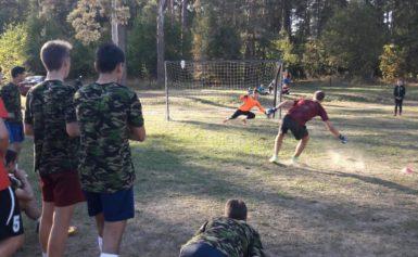 Соревнования по футболу в рамках спартакиады школьников