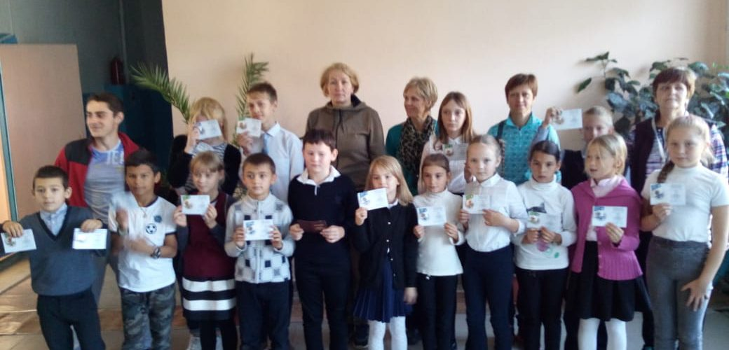 Вручение значков ГТО в д. Абрамовское