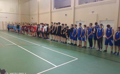 Соревнования по баскетболу среди юношей в рамках 72 спартакиады школьников