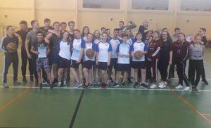 Соревнования в по баскетболу в зачёт спартакиады школьников (2 группа).