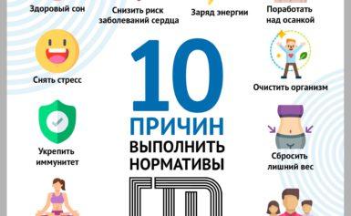 10 причин выполнить нормативы ГТО