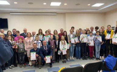 Церемония награждения по результатам кубка Калужской области по лыжным гонкам